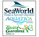 Sea World + Busch Gardens + Aquatica (1 day each)