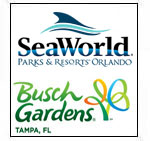 Sea World + Busch Gardens (1 day each)