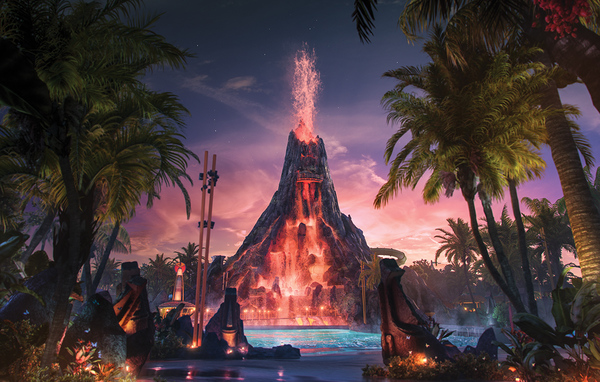Volcano Bay Volcano Night